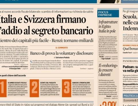 Segreto bancario. Accordo Italia Svizzera. Silvia Maria Calcioli Commercialista Roma