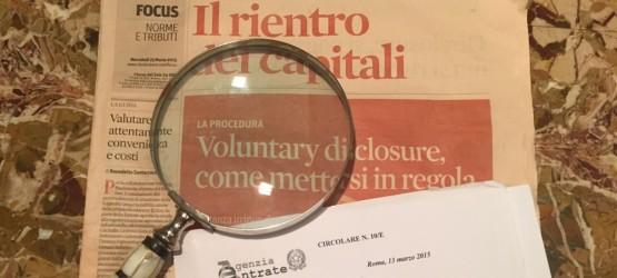 Circolare Agenzia delle Entrate Voluntary Disclosure