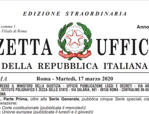 Decreto Cura Italia Silvia Maria Calcioli Commercialista Roma